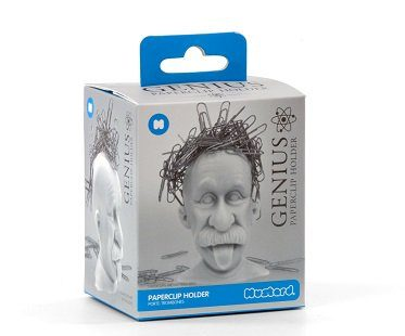 einstein magnetic paper clip holder box