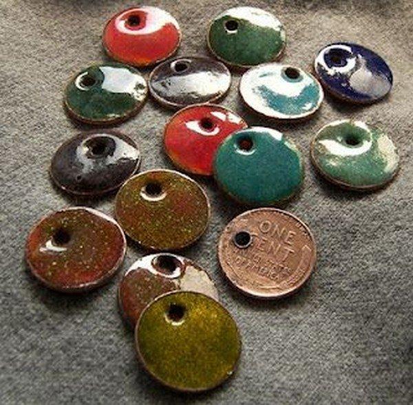 enamel charm pennies