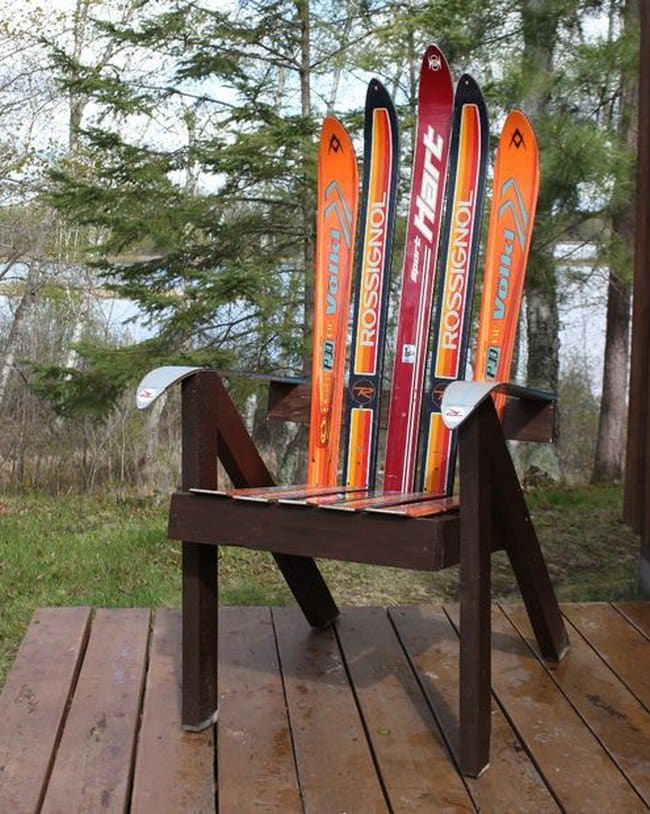 finished ski chair