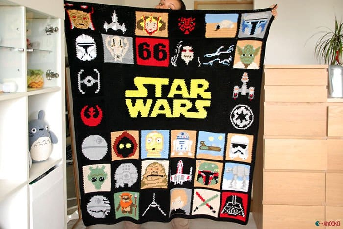 finished star wars blanket