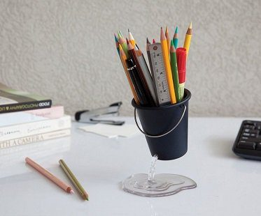 floating bucket desk tidy