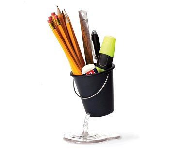 floating bucket desk tidy black