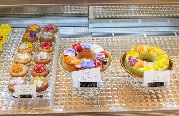 floral dessert selection