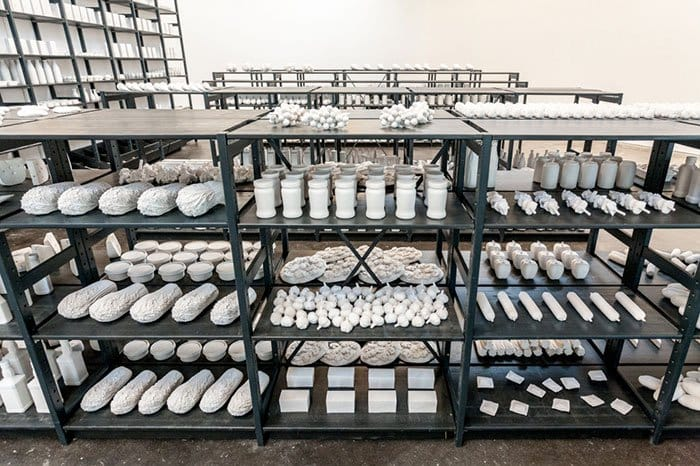 food sculptures shelves