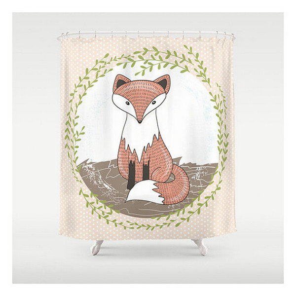 foxy shower curtain