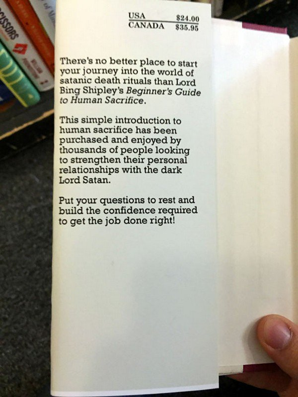 front inside book