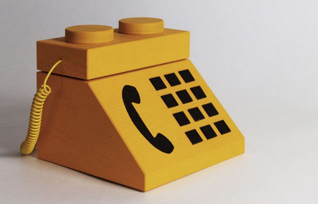front lego console phone