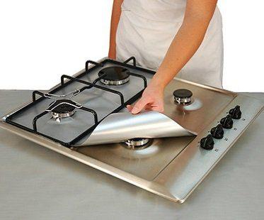 gas hob protector sheets silver