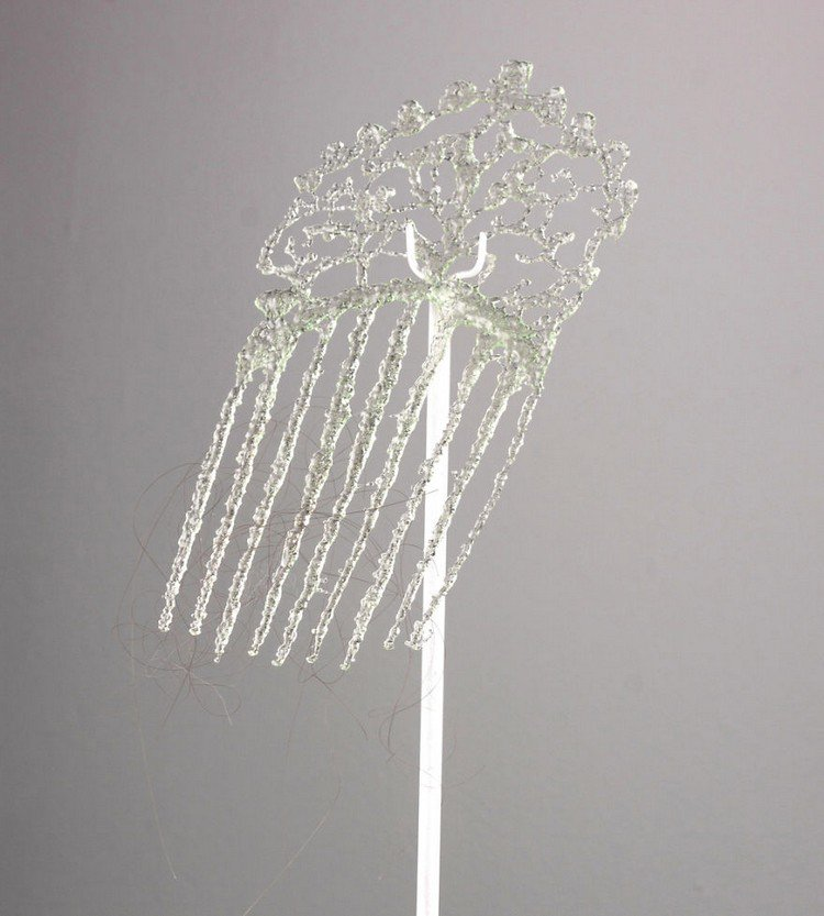 glass hair comb