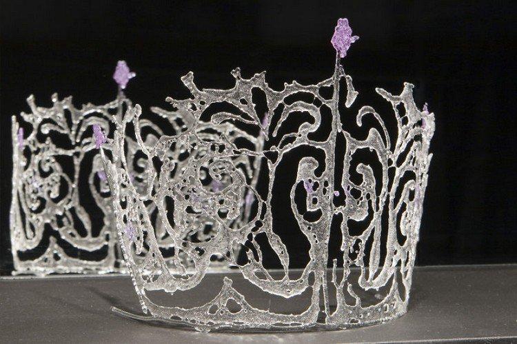 glass ice crown purple