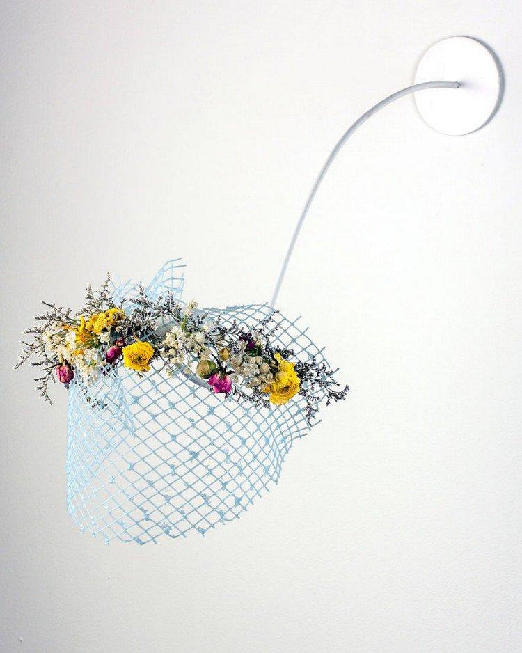 glass lattice flowers