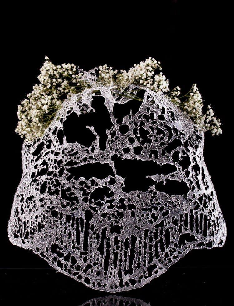 glass veil flowers