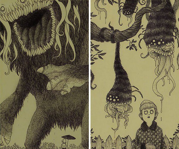 hairy hanging tree monsters