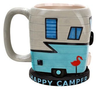 happy camper mug caravan