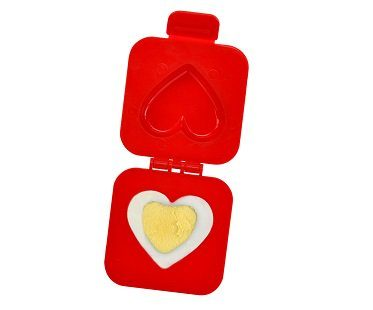 heart shaped boiled egg mold red