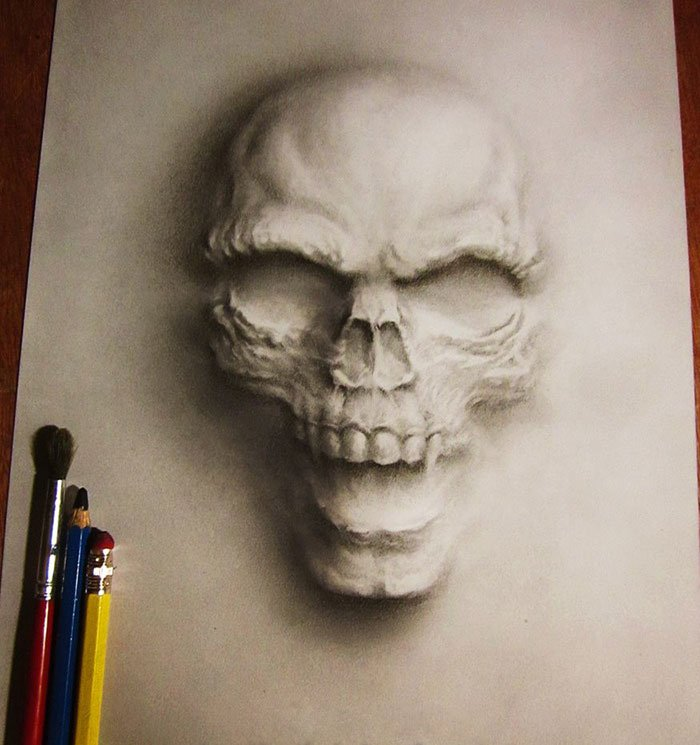 hollow skeleton face