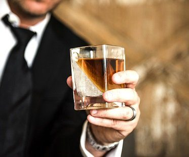 ice wedge glass whiskey