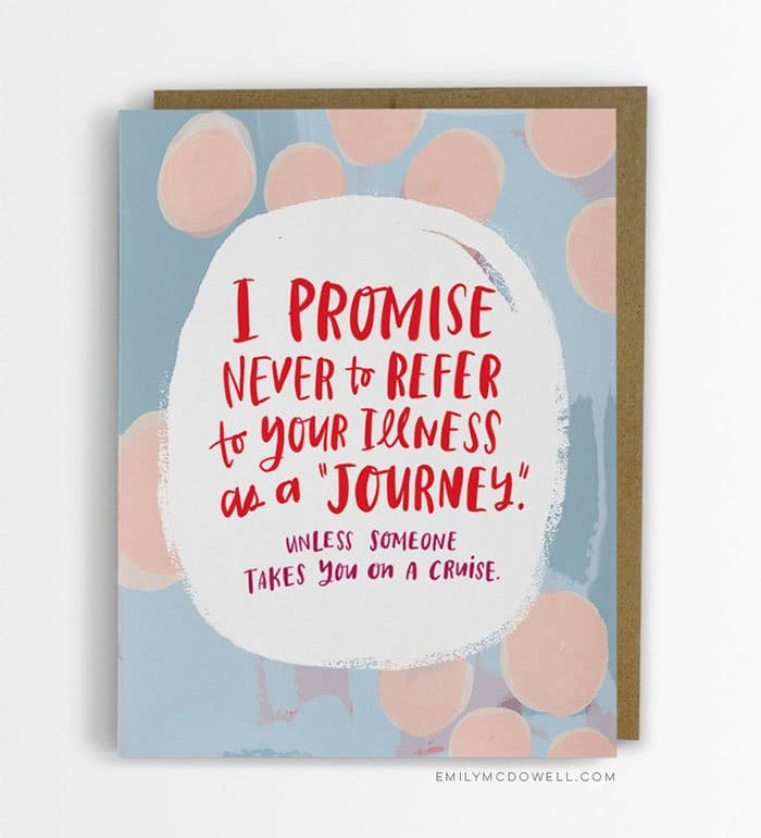 illness journey card
