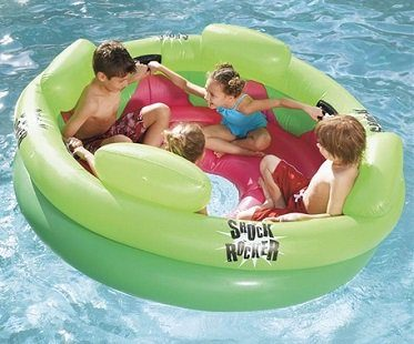 inflatable pool rocker shock