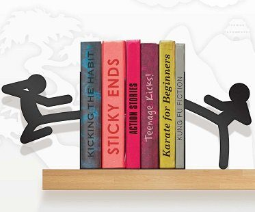 karate stickmen bookends