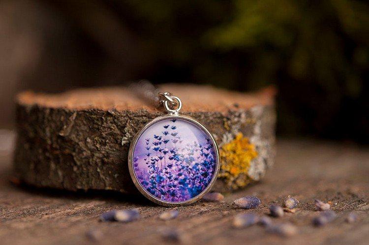 lavendar necklace
