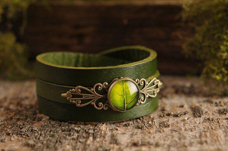 leaf bracelet
