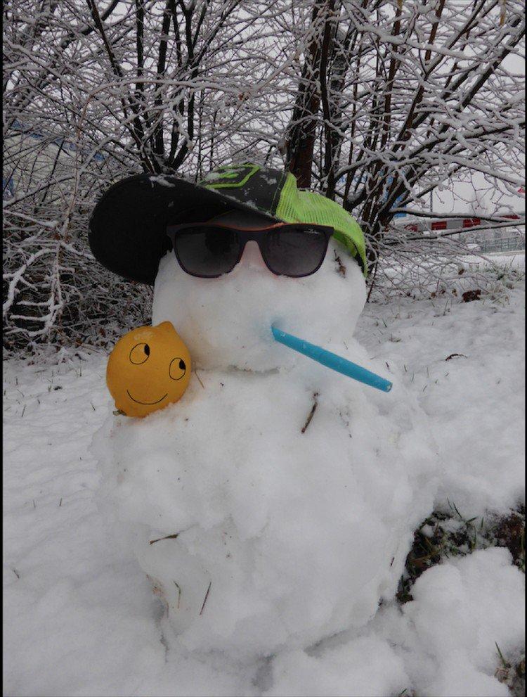 lemon snowman