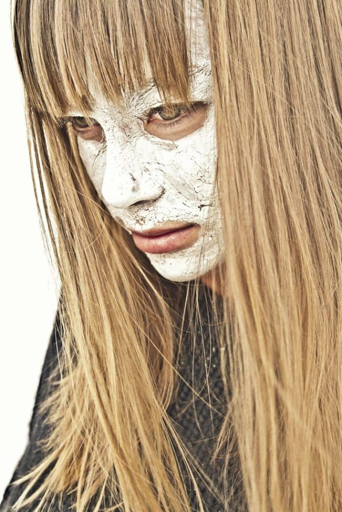 long blond hair white face