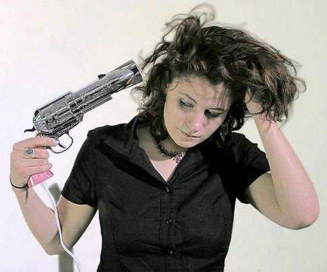 magnum hairdryer woman using