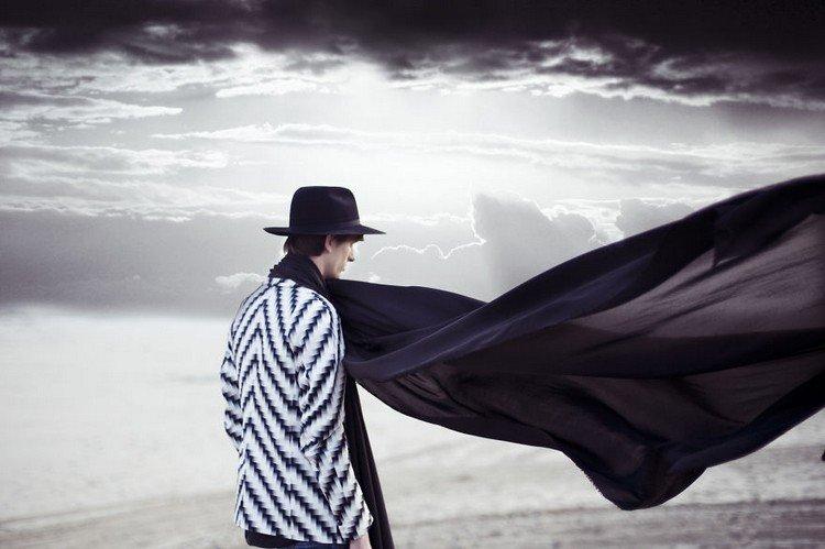 man black scarf