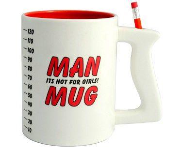 man mug pencil