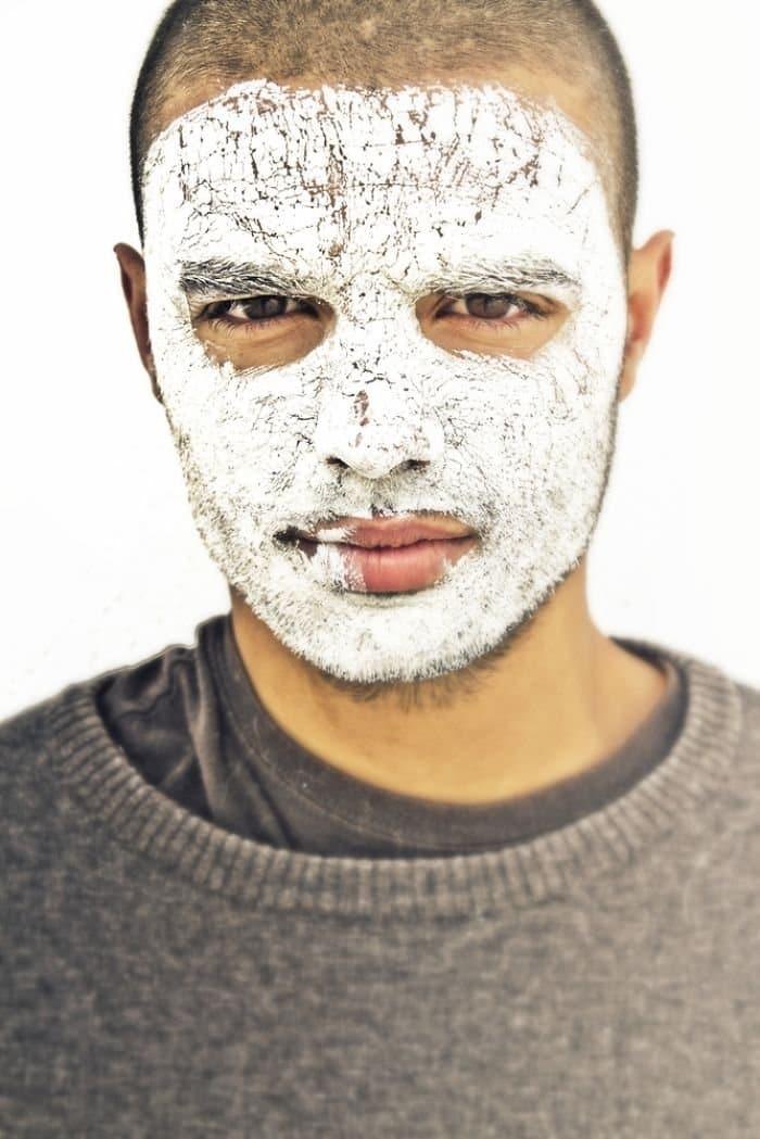 man white face