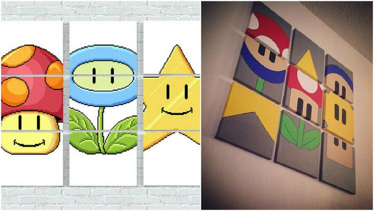 Mindy Creates Awesome Super Mario Themed Wall Art That Any Geek ...