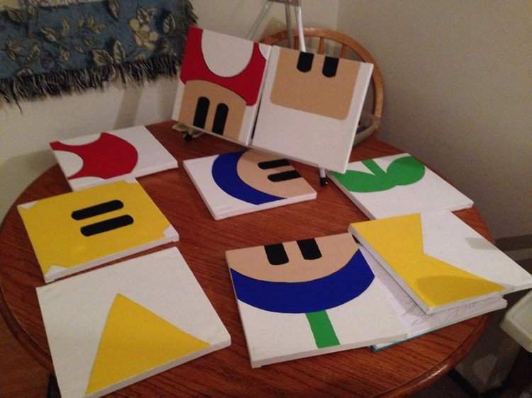 mario design canvas table