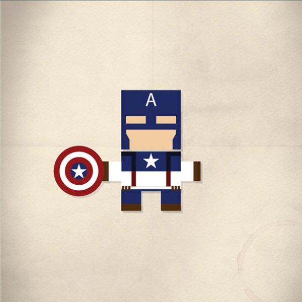 minimalist-pop-avengers-captain-america