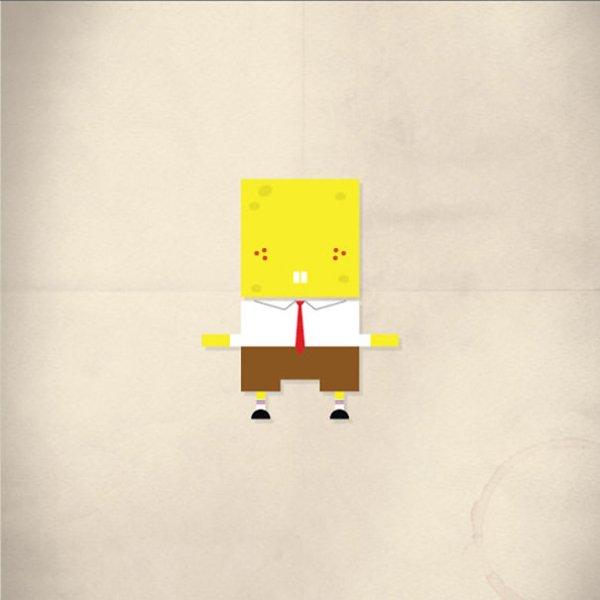 minimalist-pop-spongebob