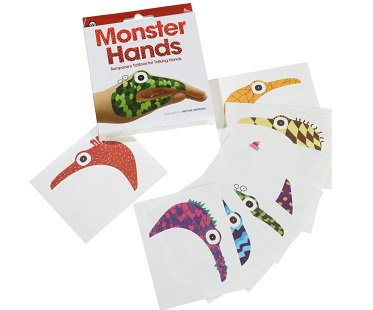 monster hands temporary tattoos