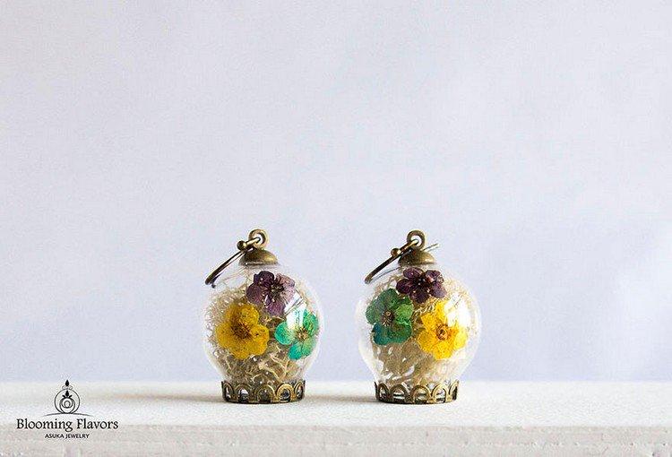 moss flower rings