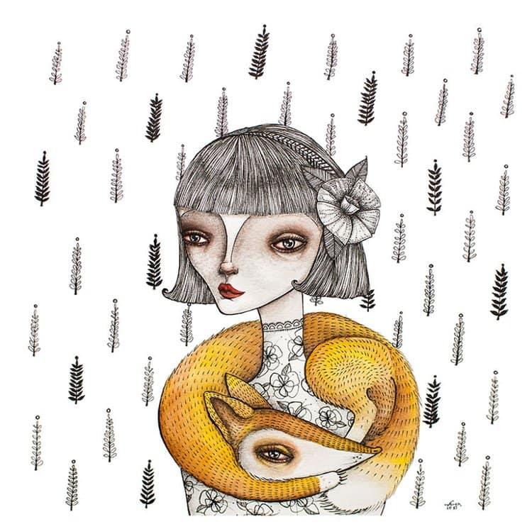 nora-illustration-lady-fox