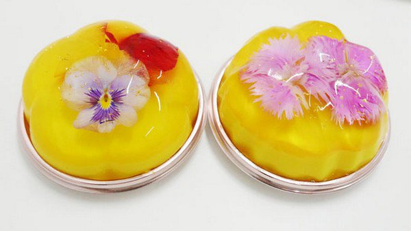 pair yellow floral desserts