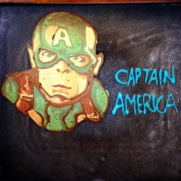 pancake-captain-america