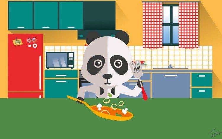 panda cooking