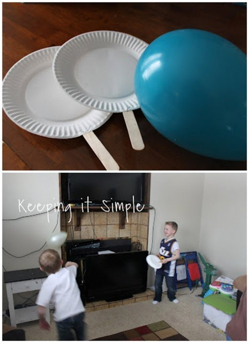 paper plate ping pong