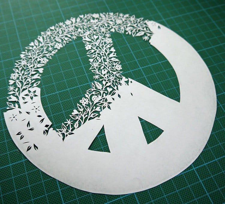 peace paper cut