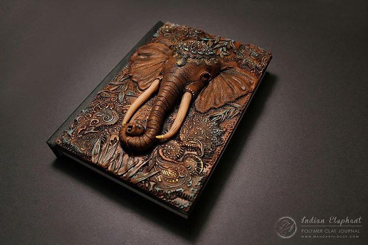 polymer-clay-book-covers-by-aniko-kolesnikova-elephant-top