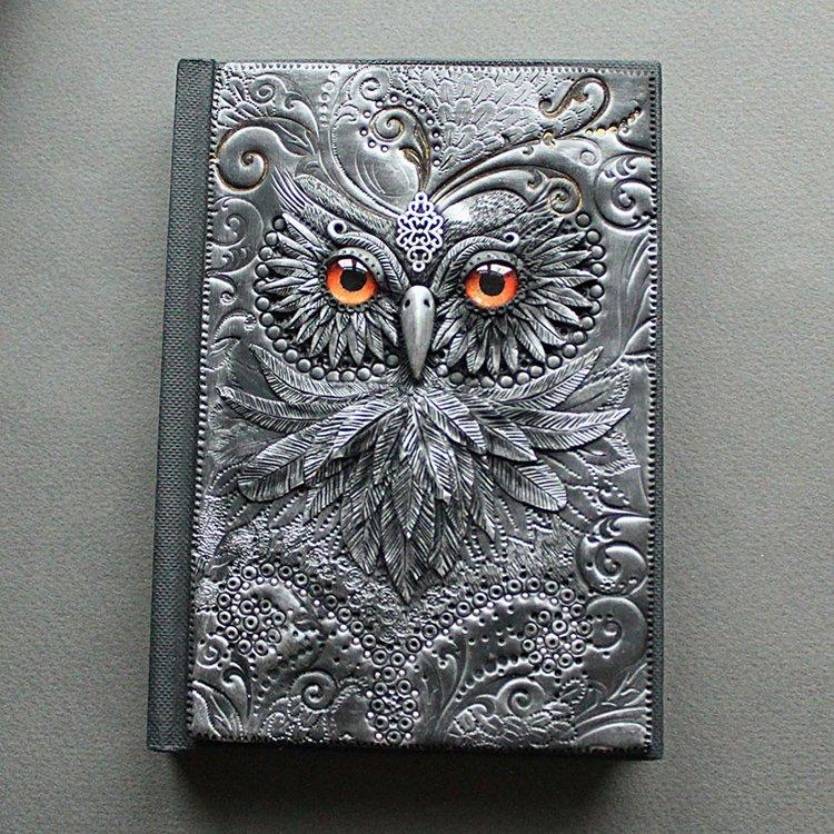 polymer-clay-book-covers-by-aniko-kolesnikova-owl-close
