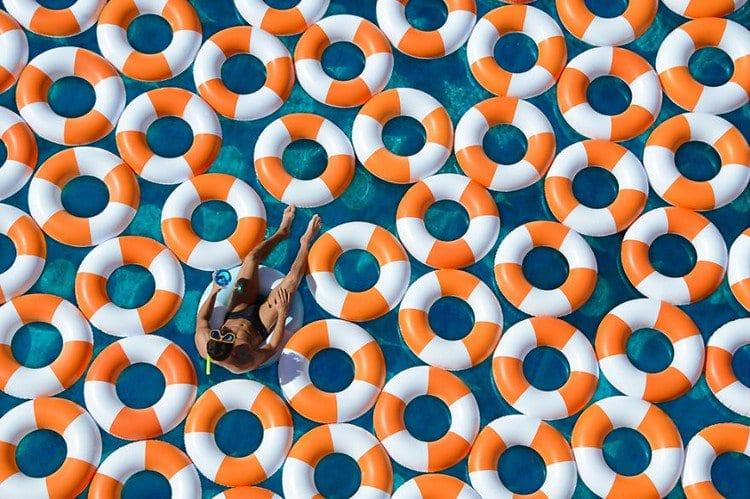poolside plunge