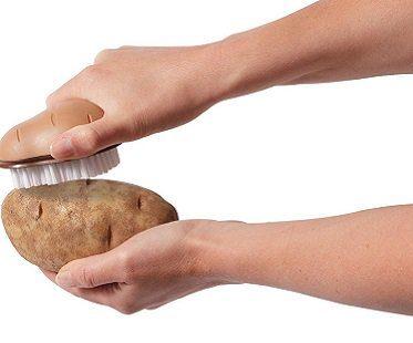 potato scrub brush clean