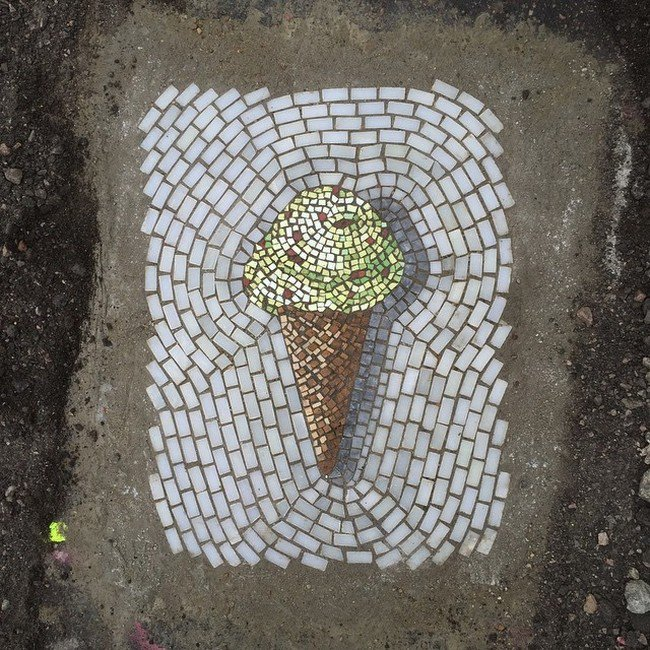 pothole ice cream above