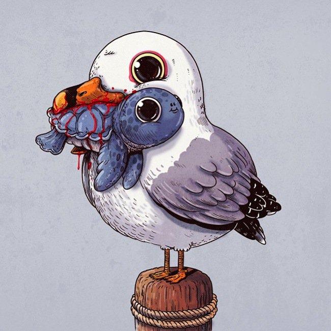 predator-gull
